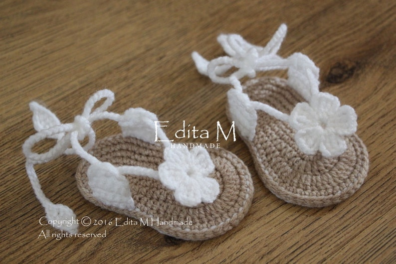 e31b1440b Crochet sandalias de bebé sandalias de gladiador botines de | Etsy