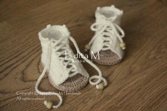 b8a92113330 Crochet baby sandals gladiator sandals baby girl booties