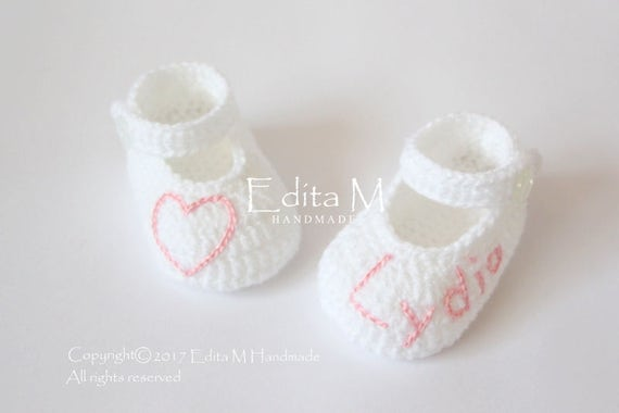 700946661 Personalized baby shoes crochet baby shoes baby booties