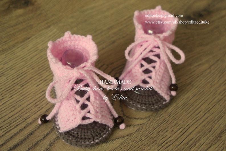 Sale Crochet Baby Sandals Gladiator Sandals 3 6 Months Etsy