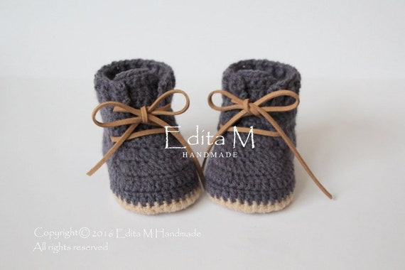 6df57b8aedb Crochet baby booties baby shoes boots baby boy sneakers