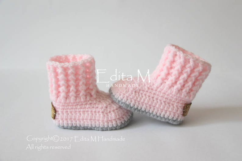 3c72e289653 Crochet baby booties baby girl booties baby shoes knitted