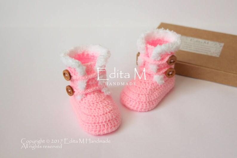 fd5131b19da Crochet baby booties baby girl shoes 0-3 3-6 6-9 months