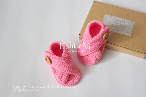slippers peep toe shoes 6-9 months Crochet baby sandals summer wear 0-3 gift for baby 3-6 beach gladiator sandals,baby girl booties