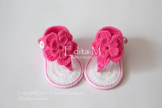 Crochet baby sandals, gladiator sandals, baby girl booties, shoes, 0 3, 3 6, 6 9 months, flower sandals, baby shower, baby slippers, gift