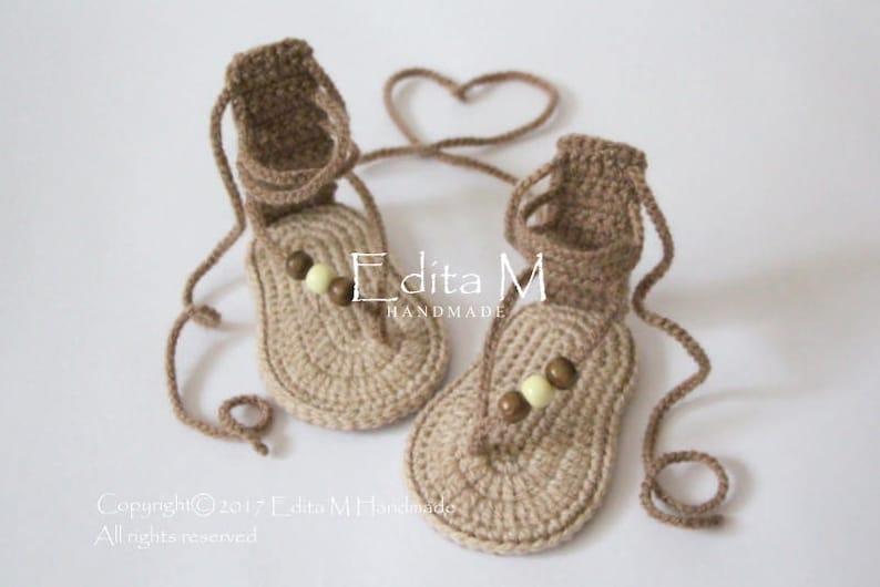 Sale Crochet Baby Sandals Gladiator Sandals Unisex Etsy