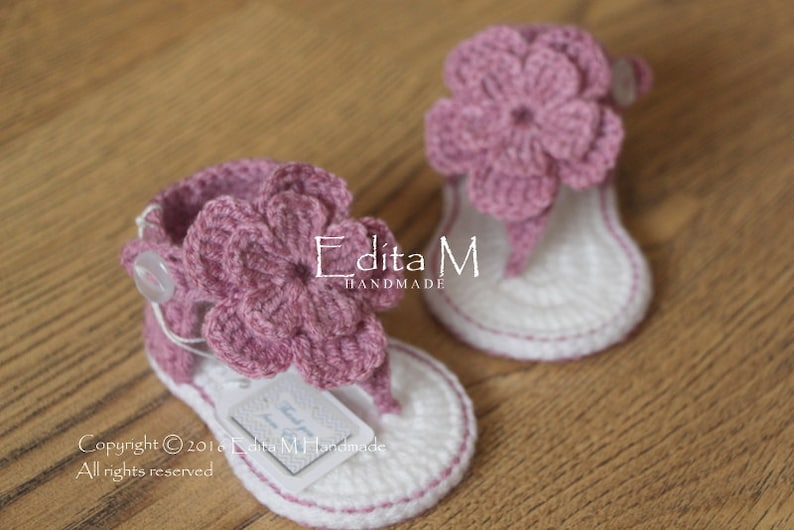 d4f972d68afb Crochet baby sandals gladiator sandals 0-3 3-6 6-9 months