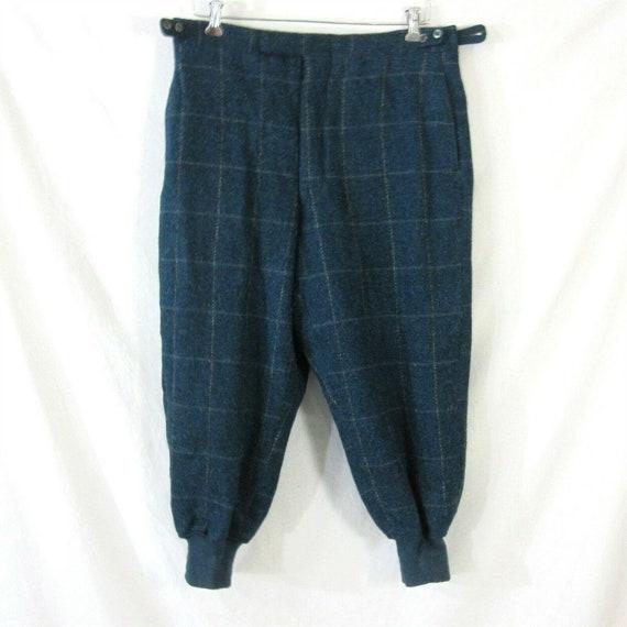 Plaid Wool Lined Hunting Field Pants 36 Waist Rib… - image 1