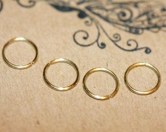 6d7a84fef44980 Little Cartilage Hoop Earrings Set of 4 - 14K Gold Fill 20 Gauge Gold Hoop  - Thin Gold Hoops - Helix Piercing Hoops - Ear Huggie Hoops