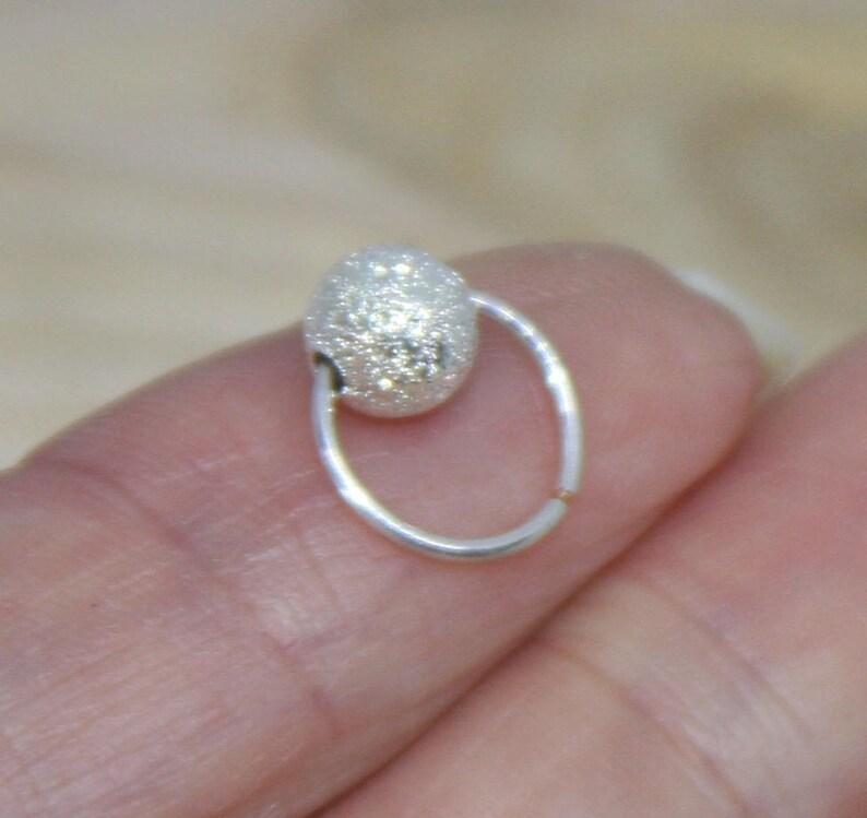 Nose Rings Piercing Jewelry Nose Hoop 18 20 22 24 gauge Helix Hoop Small Sterling Silver Nose HoopCartilage Earrings Nose Ring