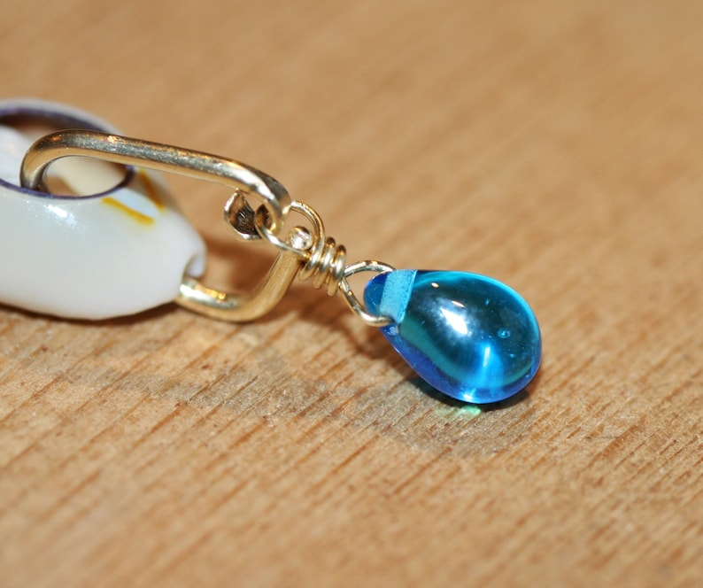 Aqua Blue Belly Button Ring Rose Gold Belly Ring Gold Belly Button Ring Teardrop belly Ring 18 g 16g 14g Silver Belly Ring