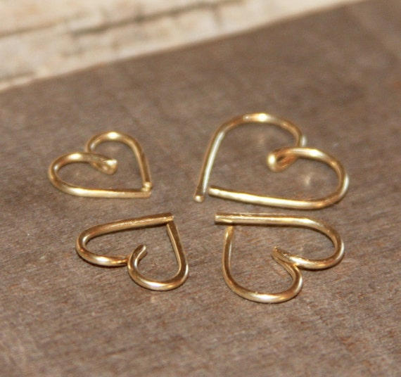 Heart Cartilage Earrings Heart Nose Ring Nose Hoop Helix Etsy