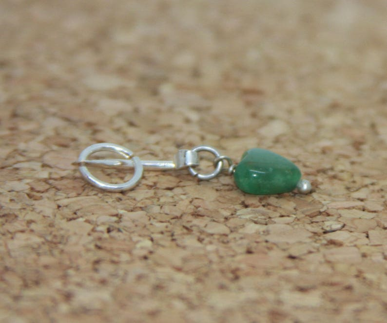 Heart Belly Button Ring two looks in one Heart Belly Button Barbell Green Beaded Barbell Belly Button Ring Handmade