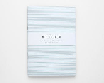 THE GINA notebook A5 / light blue stripe notebook / blank notebook