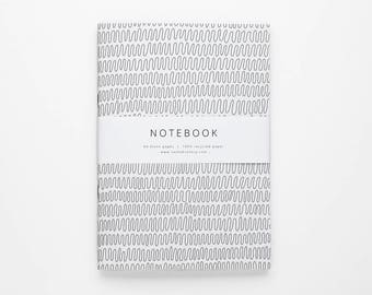 THE TRICIA notebook A5 / minimalist black and white notebook