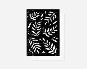 LEAVES postcard / minimalist floral card