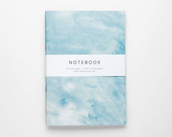 THE ALISON notebook A5 / light blue notebook / blank notebook