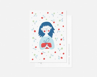 GIFT I postcard / minimalist all occasion card