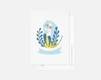 SUMMER MOOD postcard / minimalist floral card