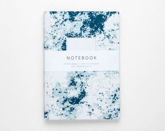 THE ERICA notebook A5 / abstract notebook / blue journal / blank book / sketchbook