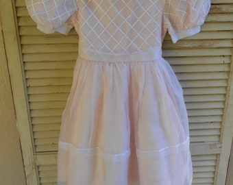 cdb3dc7d55d vintage Sylvia Whyte girl s dress pink fancy 5