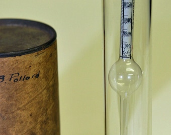 Antique Extremely Rare Danville VERMONT Furniture Makers HYDROMETER By Sterling Varnish Co. Fine Furniture Mixing Varnish Tool