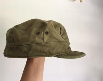 a53d533ba 1940's WWII field cap size 53.7 cm 20 1/4