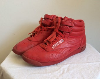 49dad0d0becb9 90s Reebok classic freestyle high tops read size 9 women s
