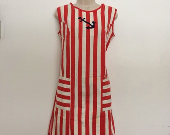 Vintage swimsuit cover-up dress 1960's beach wear size large