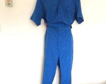 Vintage coveralls XL Tall blue