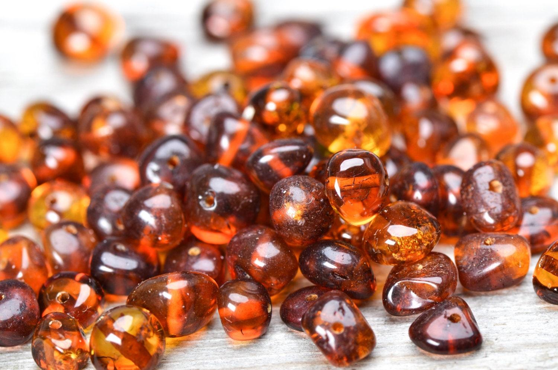 Cognac Honey Genuine Polished Stones 4-7 mm size Yolk Cherry Natural Baltic Amber Beads CHIP Style Polished Stone Gemstone Lemon
