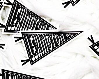 Lexington, KY Pennant Sticker