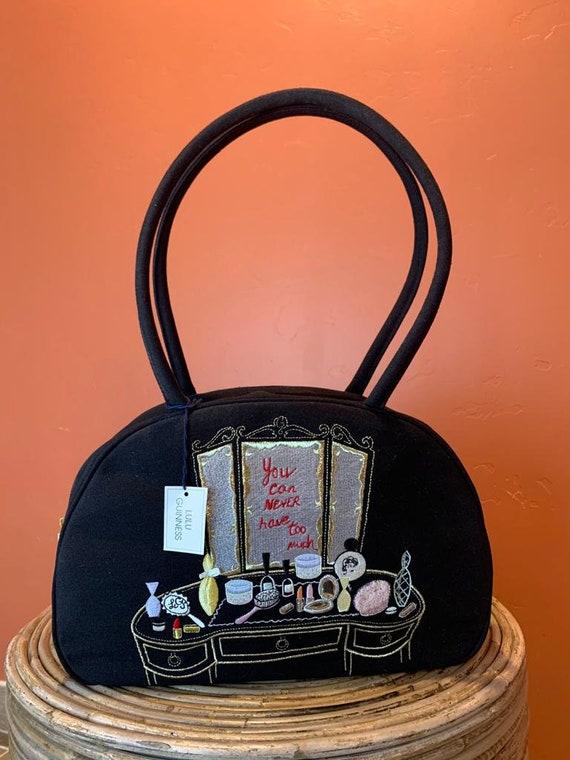 Vintage LULU GUINNESS embroidered Handbag