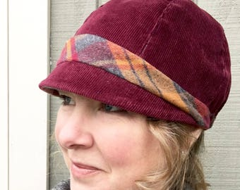 Woman's Hat, Cloche Hat, Women's Gift, Woman's Cloche Hat, Custom Women's Hat, Corduroy Cloche Hat, Gift for Her Under 50, Handmade Hat