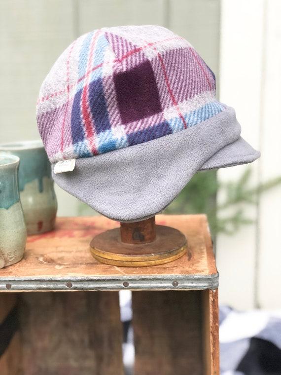 Ear Flap Plaid Hat Earmuff Beanie Women s Winter Cap  461c84c8c11