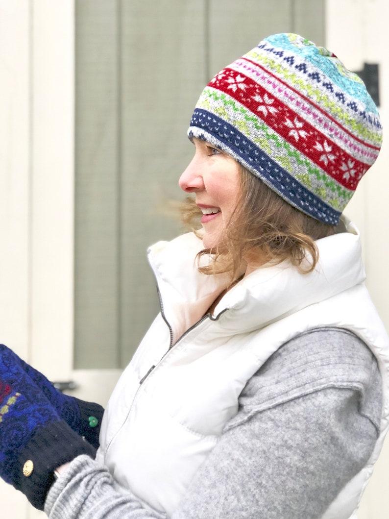 1522eab313 Arc-en-chapeau femme chapeau dhiver polaire pull polaire | Etsy