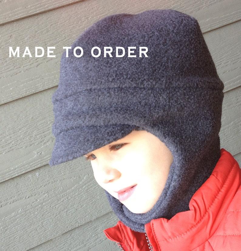 d43590d38f8316 Toddler Ear Flap Fleece Hat Child Chin Strap Hat Fleece | Etsy