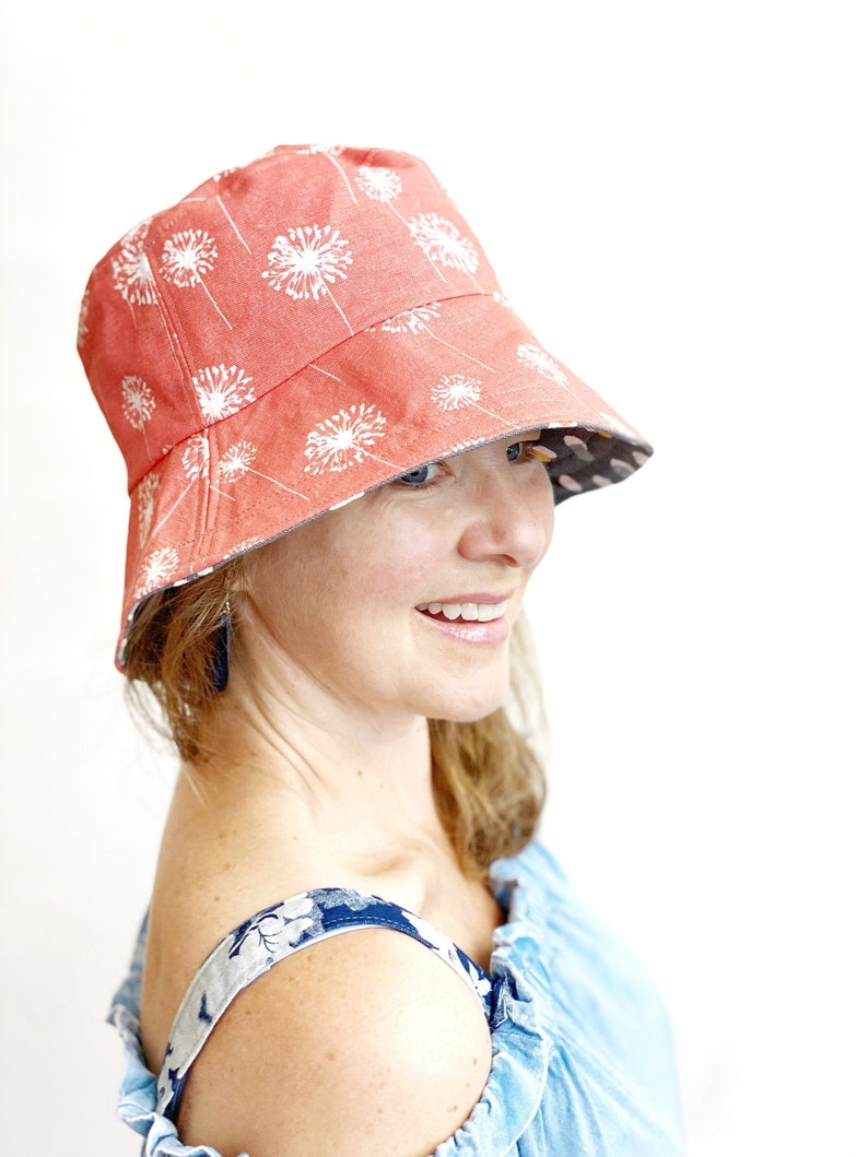 Washable Summer Sun Hat for Women Foldable Fabric Beach Hat image 0