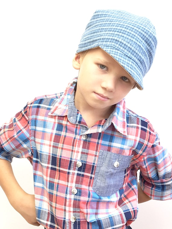 380cbc9249e Boy Newsboy Hat Reversible Boy Hat Boy Newsboy Cap Toddler