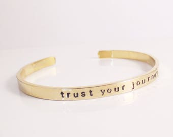 Personalized Bangle Bracelet, Mantra, Motivational Phrase, Name, Date, Quote, Handstamped, Gifts for Her, Bridesmaid Gifts, Wedding