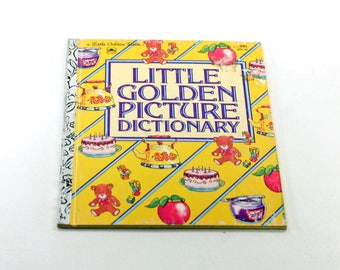 Little Golden Picture Dictionary Vintage Book
