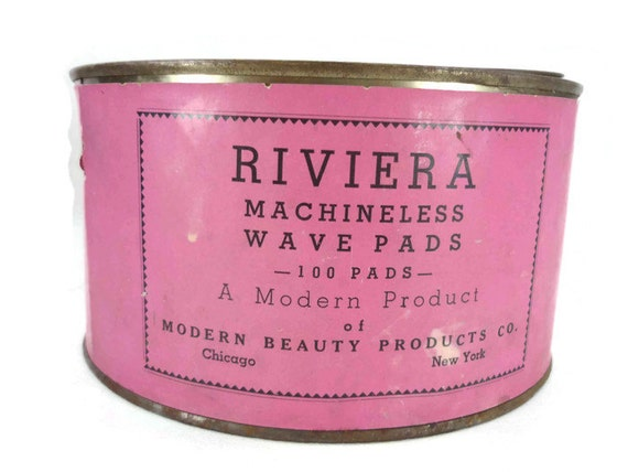 Vintage Rosa Zinn Riviera Machineless Welle Pads Salon Decor | Etsy