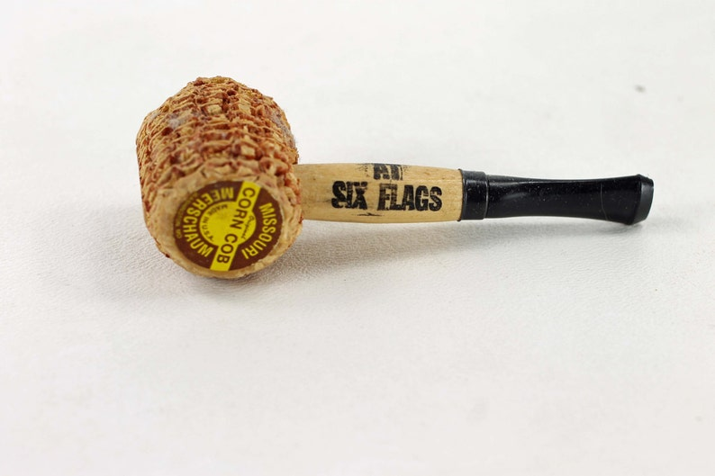 Vintage Missouri Meerschaum Corn Cob Pipe with Advertising Ramada Inn at Six Flags