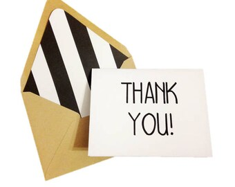 blank thank you card etsy
