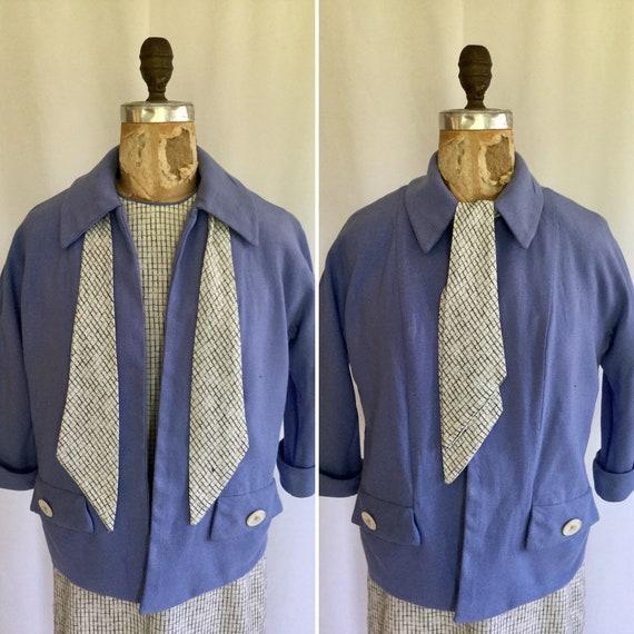 Vintage 50er Jahre Kleid | Vintage Reich Original karierte Schicht Kleid und passende Jacke | 1950er Jahre Kleid und Jacke