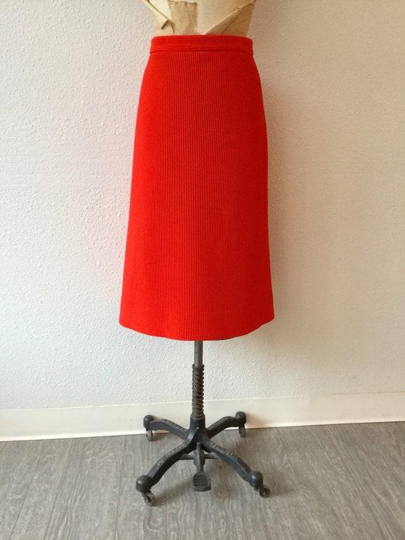 Lilli Ann 70s suit | Vintage tomato red knit suit… - image 5