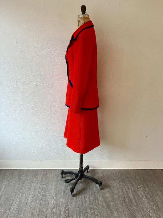 Lilli Ann 70s suit | Vintage tomato red knit suit… - image 7