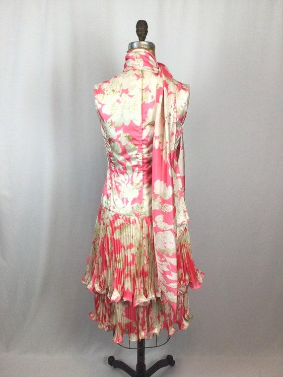Vintage 60s dress   Vintage pink floral cocktail … - image 9