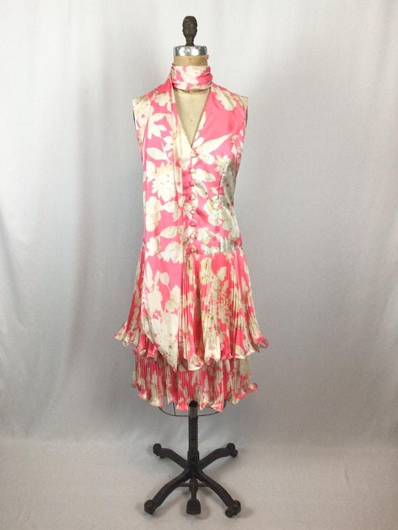 Vintage 60s dress   Vintage pink floral cocktail … - image 5