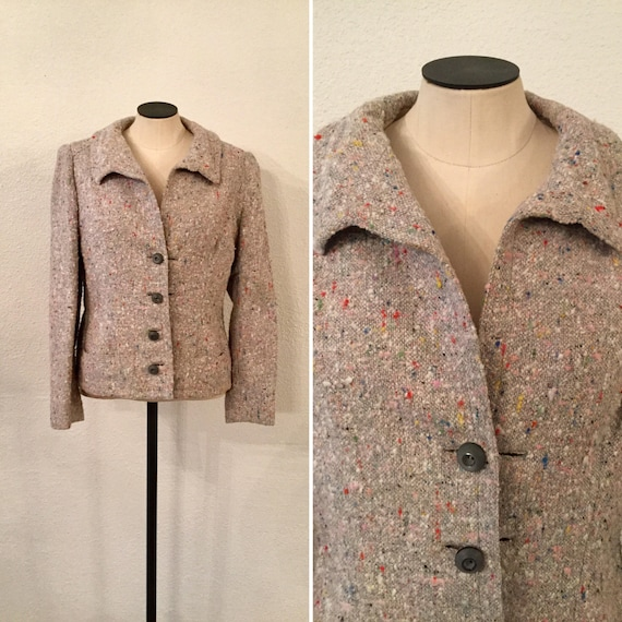 Halloway 40s Jacket | Vintage tweed blazer | 1940s
